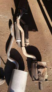 Крайслер Пацифика 3,5 установка комплекта глушителя