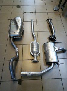 Выхлопная система на Рено Лагуна-Renault Laguna 1,6-1,8-2,0 бензин 1994-2001