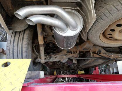 VW Шаран 1,9D установка нового глушителя